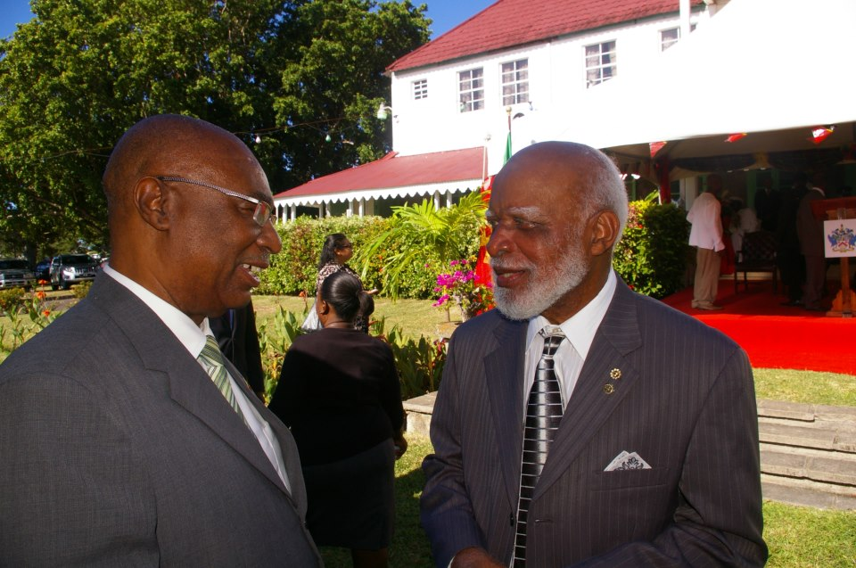 Premier, Hon. Joseph Parry with incoming Governor General , Sir Edmund Lawrence