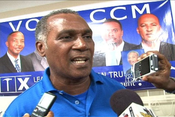 Premier Elect and Leader of the victorious Concerned Citizens Movement Mr. Vance Amory moments after his party's victory at the Nevis polls