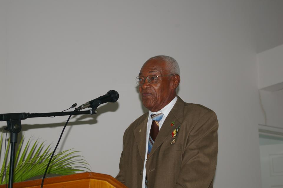 Mr. Franklin A. Browne giving brief remarks at renaming of community center in his honour