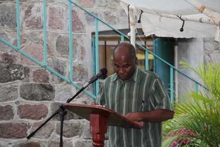Permanent Secretary in the Ministry of Social Development on Nevis Mr. Alsted Pemberton