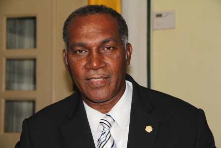 Premier of Nevis and Minister of Finance in the Nevis Island Administration Hon. Vance Amory delivering his first report on the state of the economy in Nevis