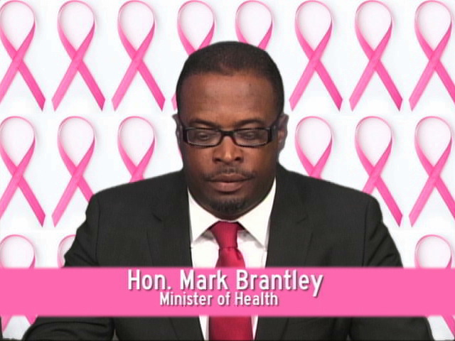 Minister of Health in the Nevis Island Administration Hon. Mark Brantley delivering his televised address to mark Nevis' Observance of World Cancer Day 2013