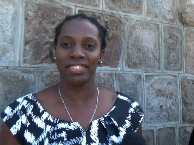 CDEMA Senior Programme Officer Sarah Lionel, workshop facilitator