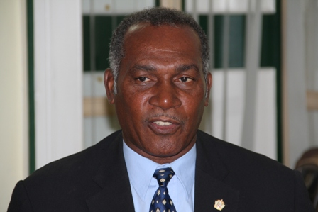 Premier of Nevis Hon Vance Amory at his Bath Hotel office at Bath Plain