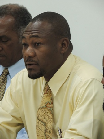 Project Officer of the Nevis Disaster Management Office on Nevis Mr. Brian Dyer