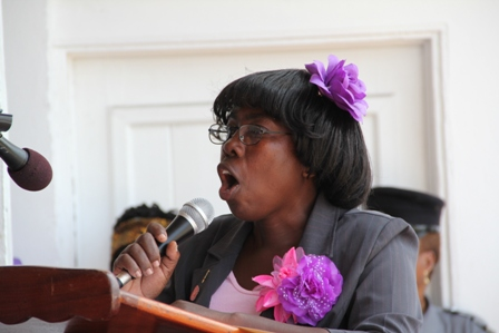 President of the Voices of Women (VOW) Inc., a Non Governmental Organisation on Nevis Ms. Gweneth Browne