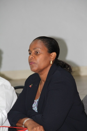 Clinical Care Coordinator, Medical Officer of Health in the Ministry of Health on Nevis Dr. Judy Nisbett