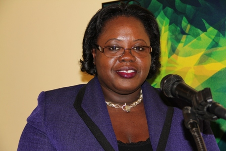 Junior Minister of Social Development in the Nevis Island Administration Mrs. Hazel Brandy-Williams