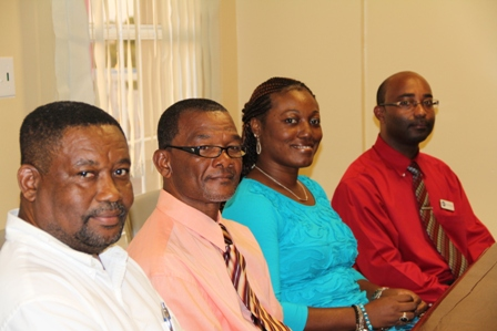 "Other members of the Nevis Electricity Company Limited's new Board of Directors (L-R) Dr. Telbert Glasgow, Mr. Spencer ""Peeko"" Pinney, Ms. Clestine Grant and Mr. Dexter Boncamper"