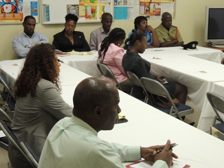 Other persons present at the launch of Helping Our People Excel (HOPE) Nevis Inc. OAS sponsored Building Resilience to Natural Hazards, one Community at a Time project at the Llewellyn Newton Disaster Management Facility at Long Point