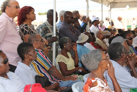 A section of persons at the opening ceremony of the two-day 19th annual Department of Agriculture's Open Day at the Villa Grounds in Charlestown