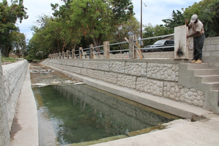 The Ministry of Tourism's ongoing renovation works at the Bath Stream which is said to have therapeutic properties for hundreds of years