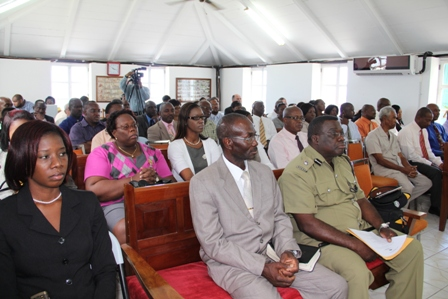 A section of the gallery at the Nevis Island Assembly during the delivery of the 2013 Budget Address on April 26, 2013
