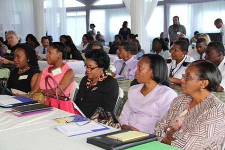 Participants at the Nevis Financial Services Regulation and Supervision Department's 2013 ALM/CFT Awareness Seminar and Training Workshop