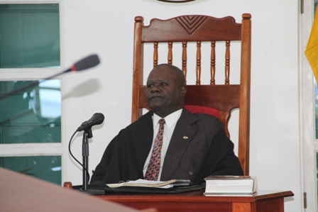 President of the Nevis Island Assembly Hon. Farrell Smithen