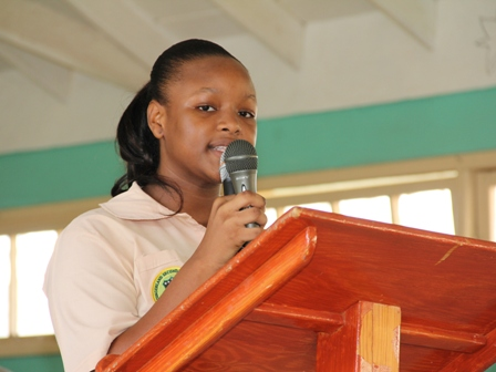 The reigning Caribbean Junior Minister of Tourism, Nevisian student of the Gingerland Secondary School Ms. Neila Jones