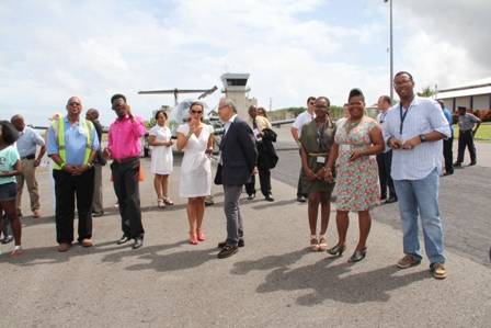A section of invitees who witnessed the launch of Tradewind Aviation's daily nonstop services from San Juan, Puerto Rico to the Vance Amory International Airport in Newcastle, Nevis