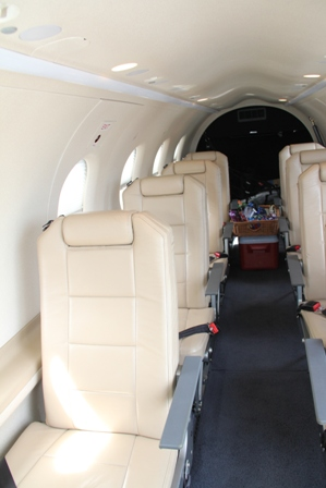 Inside  an aircraft from Tradewind Aviation's fleet on the tarmac of the Vance W. Amory International Airport on November 02, 2013