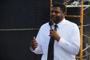 Junior Minister responsible for Public Utilities Hon. Troy Liburd at Camps