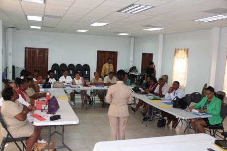 Photo caption: Participants at the Pan American Health Organization and Nevis Island Administration sponsored Human Papilloma Virus and Vaccine Acceptability Study Workshop at the St. Paul's Anglican Church conference room on January 29, 2014