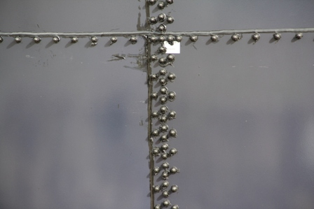 Rivets used to hold the steel and glass panels together in the construction of the 300,000 gallon water reservoir at Camps as part of the Caribbean Development Bank funded Water Enhancement Project