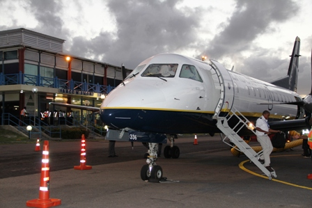 Seaborne Airlines on the tarmac at the Vance W. Amory International Airport on January 15, 2014