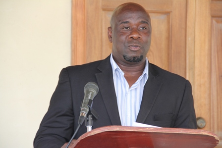 Minister of Agriculture on Nevis Hon. Alexis Jeffers