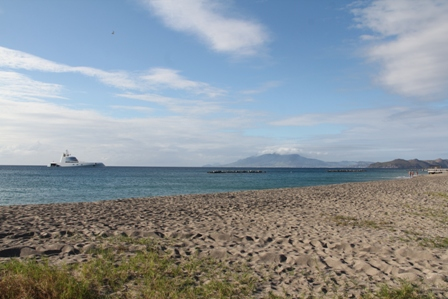Nevis boasts of sprawling vistas of sandy beaches and warm sunshine. The view at Pinneys Beach (file photo)