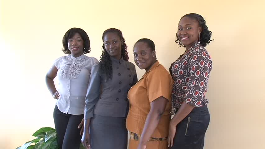 Contestants for the Ministry of Agriculture's 2014 Farm Queen Pageant (L-R) Catharine Seabrookes, Grace Williams, Shoya Lawrence and Vanessa Destouche. Missing is Shonnell Christian