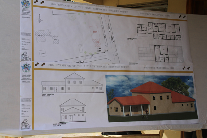 The drawings for the Veterinary Clinic Extension at Prospect Estate