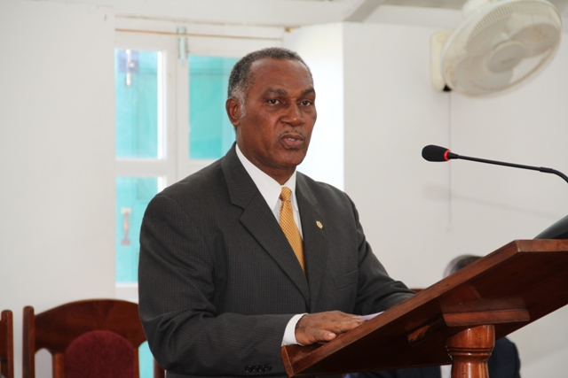 Premier of Nevis Hon. Vance Amory at a sitting of the Nevis Island Assembly, Hamilton House on Samuel Hunkins Drive (file photo)
