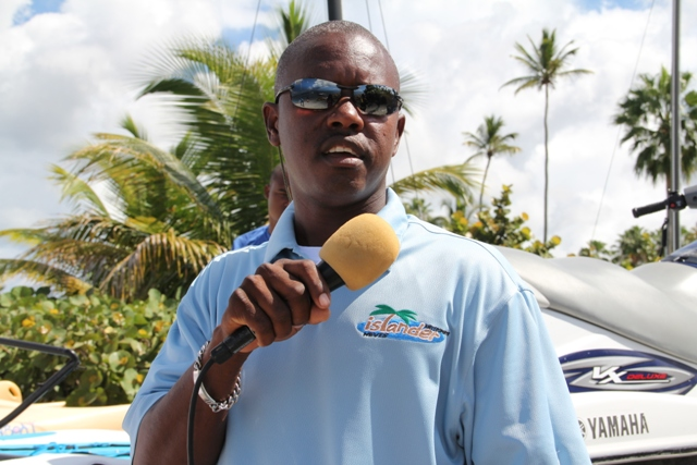 Owner and Chief Executive Officer of Islander Water Sports on Pinneys Beach, Nevisian Wincent Perkins