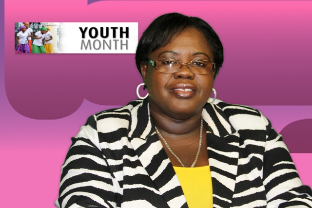 Junior Minister of Social Development Hon. Hazel Brandy-Williams launches month of activities during an address to mark the start of Youth Month on Nevis, to be celebrated during April 2014