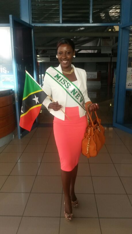 Reigning Culturama Queen 2013 Jomelle Elliott leaving the Vance W. Amory International Airport for St. Maarten on April 24, 2014
