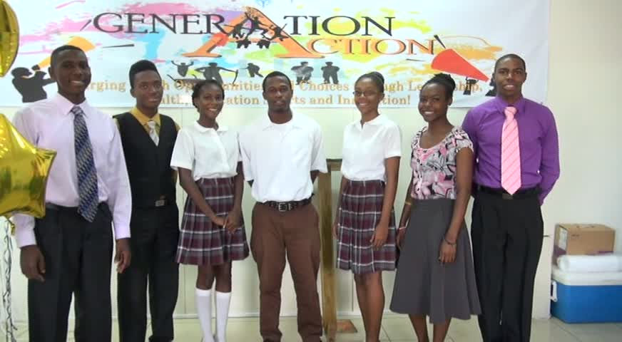 The new Executive of the Nevis Youth Council (L-R) Dwayne Hendrickson, President; Luciano Morrison, Vice President; Clayticia Daniel, Secretary; Donne Dyer, Assistant Secretary; Tameka Vyphuis, Treasurer; Daniella Ward, Assistant Treasurer and Bervis Burke, Public Relations Officer