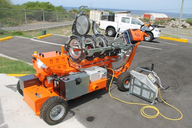 The Butt Fusion Welding machine which will be used for training ahead of the civil works of the CDB-funded Water Supply and Enhancement Project on Nevis