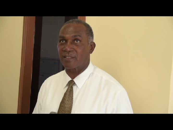 Premier of Nevis and Minister of Education in the Nevis Island Administration Hon. Vance Amory when he visited the newly relocated Department of Education at Pinney's Industrial Site on May 06, 2014