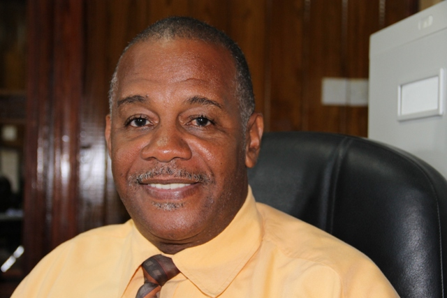 Permanent Secretary in the Ministry of Agriculture on Nevis Eric Evelyn at the Department of Information on May 01, 2014