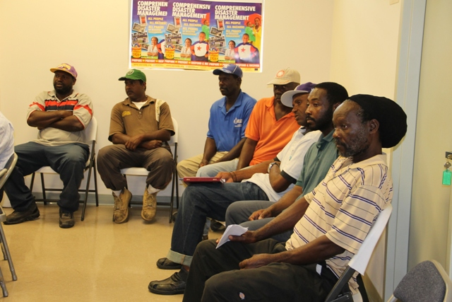 Another section of participants at the start of a one-week training session for field workers of the Nevis Water Department, their counterparts in St. Kitts and the Public Works Department on May 27, 2014 in preparation for civil works on the CDB-funded Water Supply and Enhancement Project on Nevis