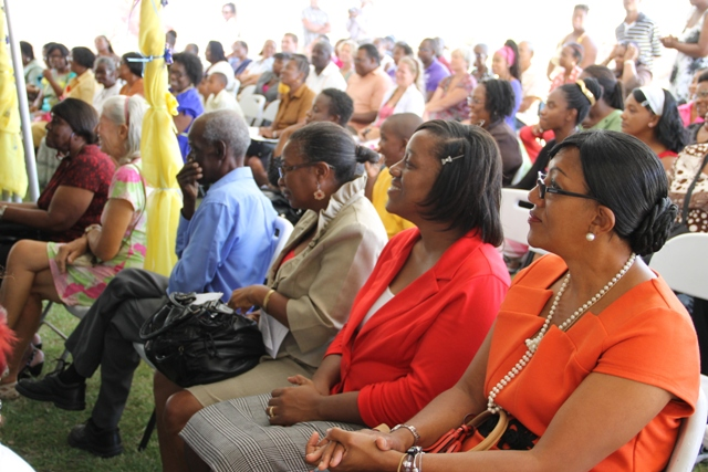 A section of persons present at the ceremony to rename the Special Education Unit in honour of Cecele Browne on April 29, 2014