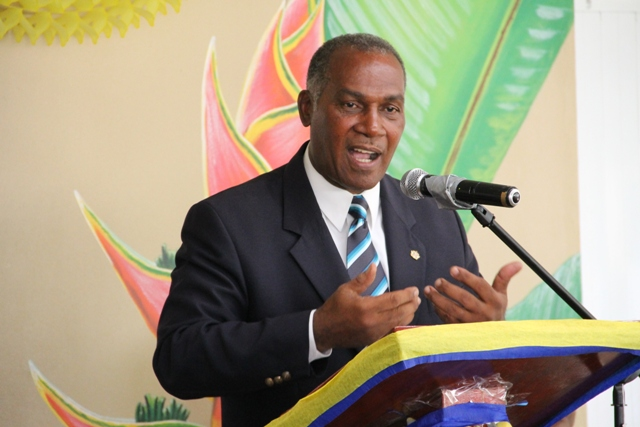 Premier of Nevis Hon. Vance Amory at the official ceremony to rename the Special Education unit in honour of Cecele Browne, the first supervisor to serve at that learning institution.