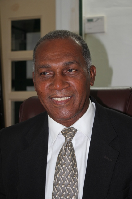 Premier of Nevis Hon. Vance Amory at his Bath Plain Office on June 20, 2014 reporting to the people of Nevis on recent discussions with the Federation's Prime Minister Hon. Dr. Denzil Douglas regarding matters relevant to the Nevis Administration