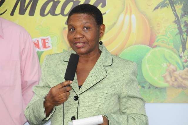 Principal Education Officer in the Department of Education Mrs Palsy Wilkin at a brief ceremony hosted on May 29, 2014 at the TDC conference room located at Pinney's Industrial Estate