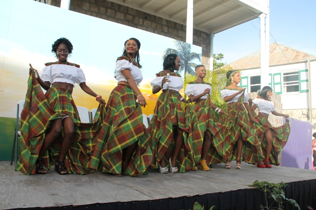 Contestants for the Culturama 40 Miss Culture Queen Pageant during the official launching ceremony in Charlestown on June 13, 2014
