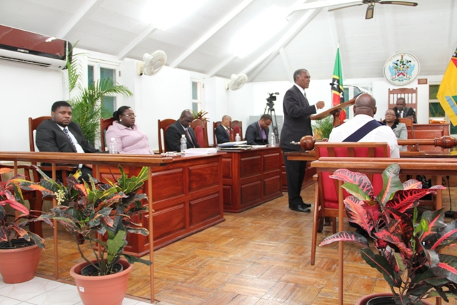 A sitting of the Nevis Island Assembly at its Chambers upstairs the Alexander Hamilton Museum on Samuel Hunkins Drive (file photo)
