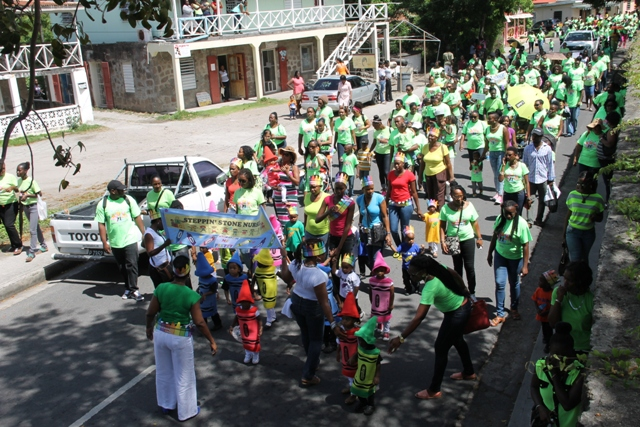 Thirtieth Child Month Parade in Charlestown on June 06, 2014 as it winds its way to the Elquemedo T. Willet Park