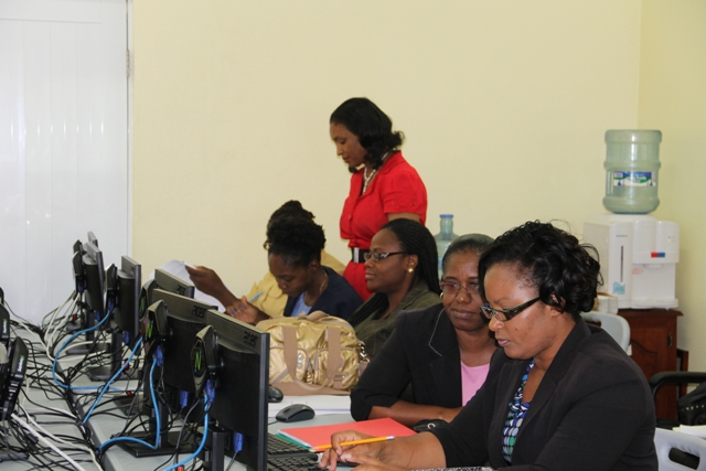 Another section of Budget personnel in the Nevis Island Administration during a training exercise at the Ministry of Finance conference room on June 04, 2014