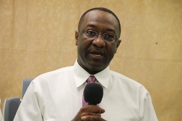 US-based Cardiologist/Internist Dr. Charlie Rouse at a welcoming ceremony at the Alexandra Hospital on July 07, 2014