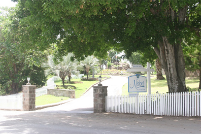 The entrance from the Island Main Road to the Nisbet Plantation Beach Club (file photo)