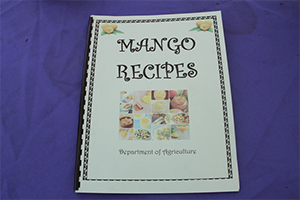 A Mango Recipe Book which lists local mangoes and provides a variety of recipes was also available at the annual Mango Madness Festival hosted in Charlestown on July 11, 2014